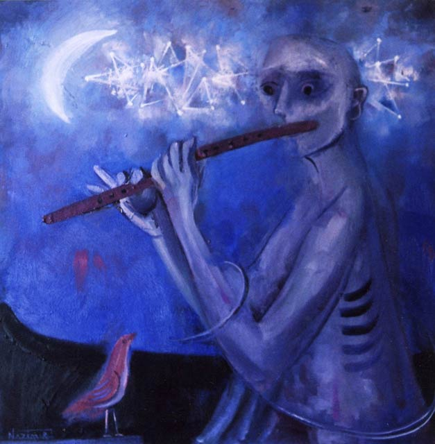 1.-''Flute-player''2011,oil-on-canvas,90x90cm